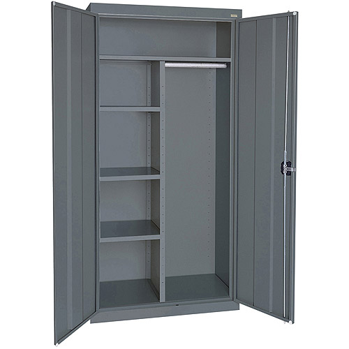 """Elite Series Combination Cabinet with Adjustable Shelves, 46""""W x 24""""D x 72""""H, Charcoal"""