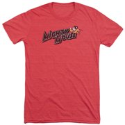 Mighty Mouse Might Logo Mens Tri-Blend Short Sleeve Shirt