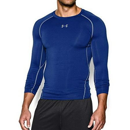 Under Armour Men's HeatGear Armour Long Sleeve Compression Shirt, Royal/Steel,