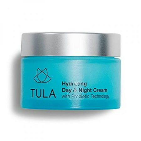 tula skin care hydrating day and night cream, probiotic technology, anti aging facial moisturizer with turmeric root extract, 1.7 oz.