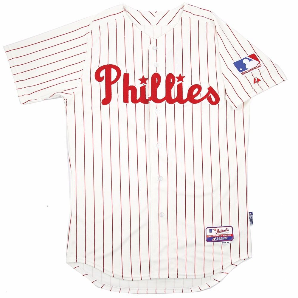 "Philadelphia Phillies MLB Majestic Men's White 1969 Authentic ""Turn Back the Clock"" Jersey"