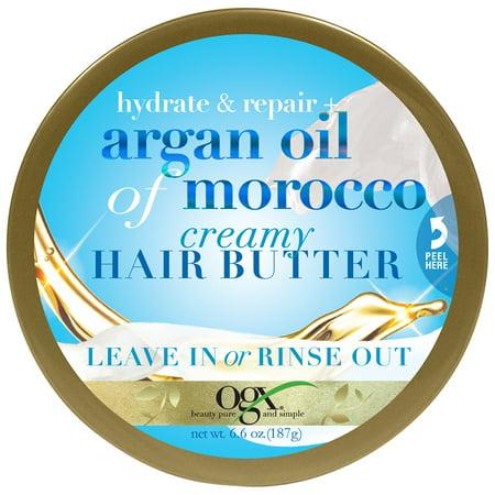 Ogx  Hydrate   Repair Argan Oil Of Morocco Creamy Hair Butter 6 6 Oz  Jar