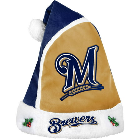 Forever Collectibles MLB 2015 Santa Hat, Milwaukee Brewers