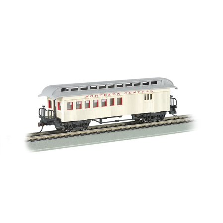 Bachmann Industries Combine Northern Central Rr Ho Scale Old-Time Car with Round-End Clerestory Roof, 1860 – 1880 era passenger car By Bachmann Trains