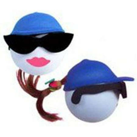 Happy Balls Brunette Blue Cap Antenna Topper - Antenna Toppers