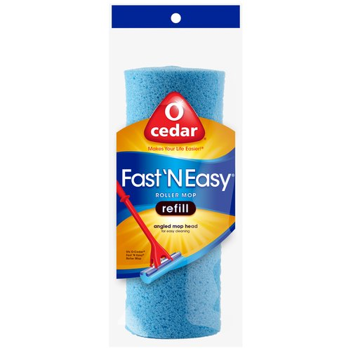 O-Cedar Fast 'N Easy Roller Angled Mop Head Refill