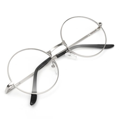 8b9af10eed6fa Fashion Vintage Retro Round Circle Metal Frame Eyeglasses Clear Lens Eye  Glasses Unisex Boy Girl Men Women - Walmart.com