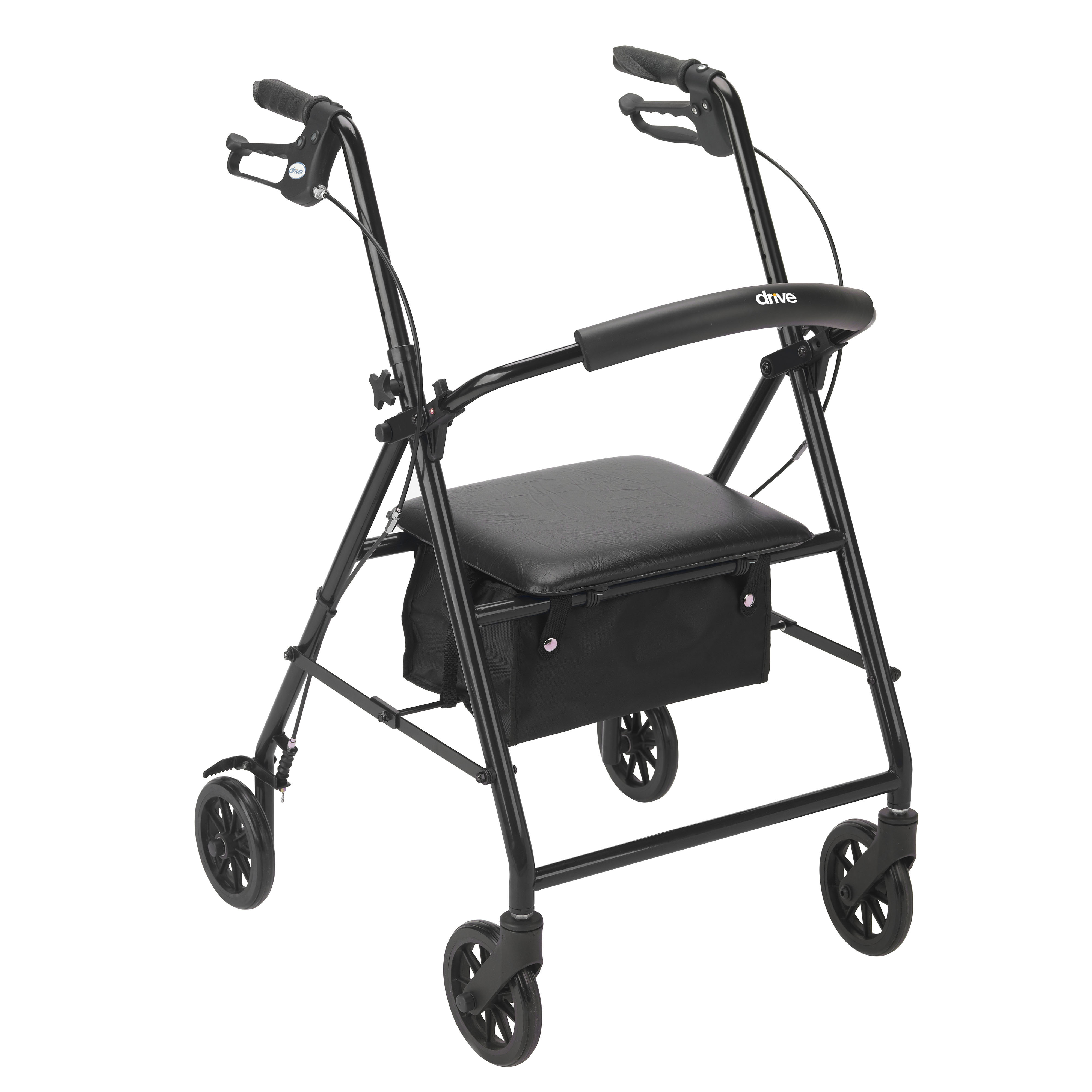 "Drive Medical Rollator Rolling Walker with 6"" Wheels, Black"