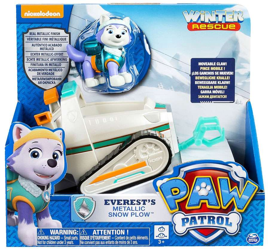 Paw Patrol Winter Rescue Everest's Metallic Snow Plow