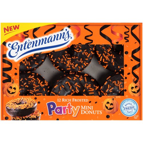 Entenmann's Rich Frosted Party Mini Donuts, 12 ct, 14 oz