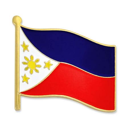 PinMart's Philippines World Flag Enamel Lapel Pin 3/4''