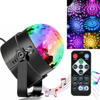 Disco Ball Disco Lights-Party Lights Sound Activated Storbe Light With Remote Control DJ Lighting,Led 3W RGB Light Ball, Dance lightshow for Home Room Parties Kids Birthday Wedding Show Club Pub