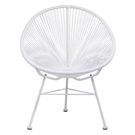Acapulco Indoor Outdoor Patio Chair In White Vinyl
