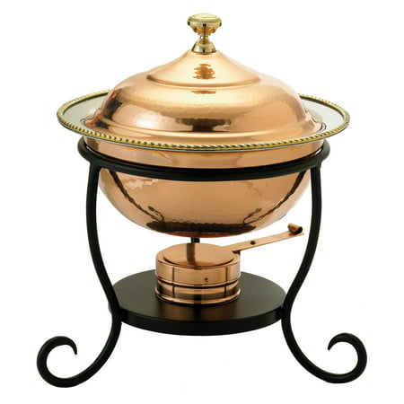 Old Dutch Round Decor Copper Chafing Dish