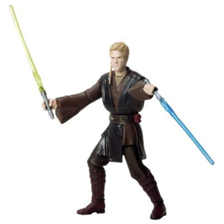 ANAKIN SKYWALKER * HANGAR DUEL * Star Wars Attack of the Clones 2002 Action Figure with Special Battle Feature & - Clone Wars Anakin
