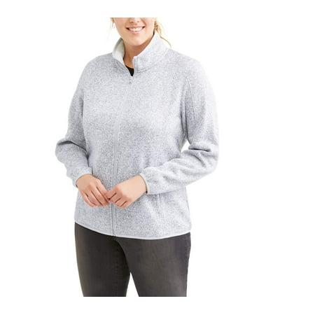 Swiss Tech Women's Plus-Size Sweater Fleece Jacket