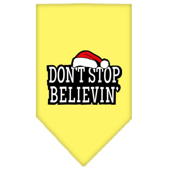 Dont Stop Believin Screen Print Bandana Grey Large