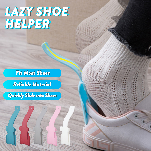 Red Shoe Horn Helper Shoe Lifting Helper for Senior and Kids Tdauke 4 Pcs Lazy Shoe Helper
