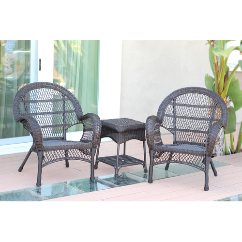 Jeco Inc. Santa Maria Wicker 3 Piece Seating Group by Jeco Inc.