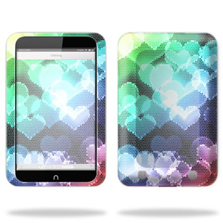 "Skin Decal Wrap for Barnes & Noble Nook HD 7"" Tablet sticker Colorful Hearts"