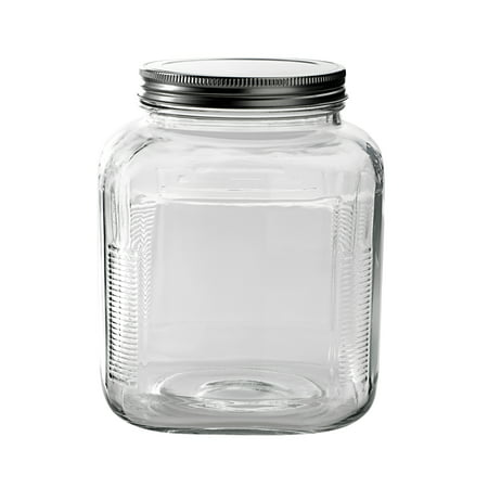 Anchor Hocking 1-Gal Cracker Jar with brushed Aluminum Lid, 4 pack