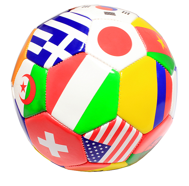 High Quality Pro Perrini Indoor Outdoor Multi-Flag Pattern Soccer Ball Size 5