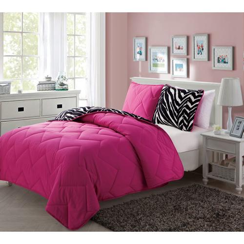 VCNY Juniper Reversible 3-piece Comforter Set Twin/ Twin XL 2 piece Set- Pink