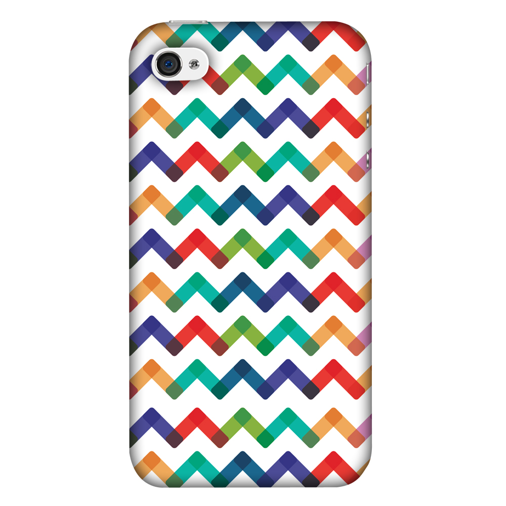 iPhone 4S Case, iPhone 4 Case - Chevron Chic 1,Hard Plastic Back Cover, Slim Profile Cute Printed Designer Snap on Case with Screen Cleaning Kit