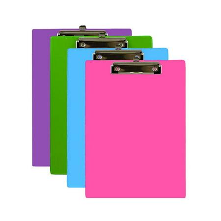 (Price/Case of 48)Bazic Products 1829-48 Bright Color Pvc Standard Clipboard W/ Low Profile Clip