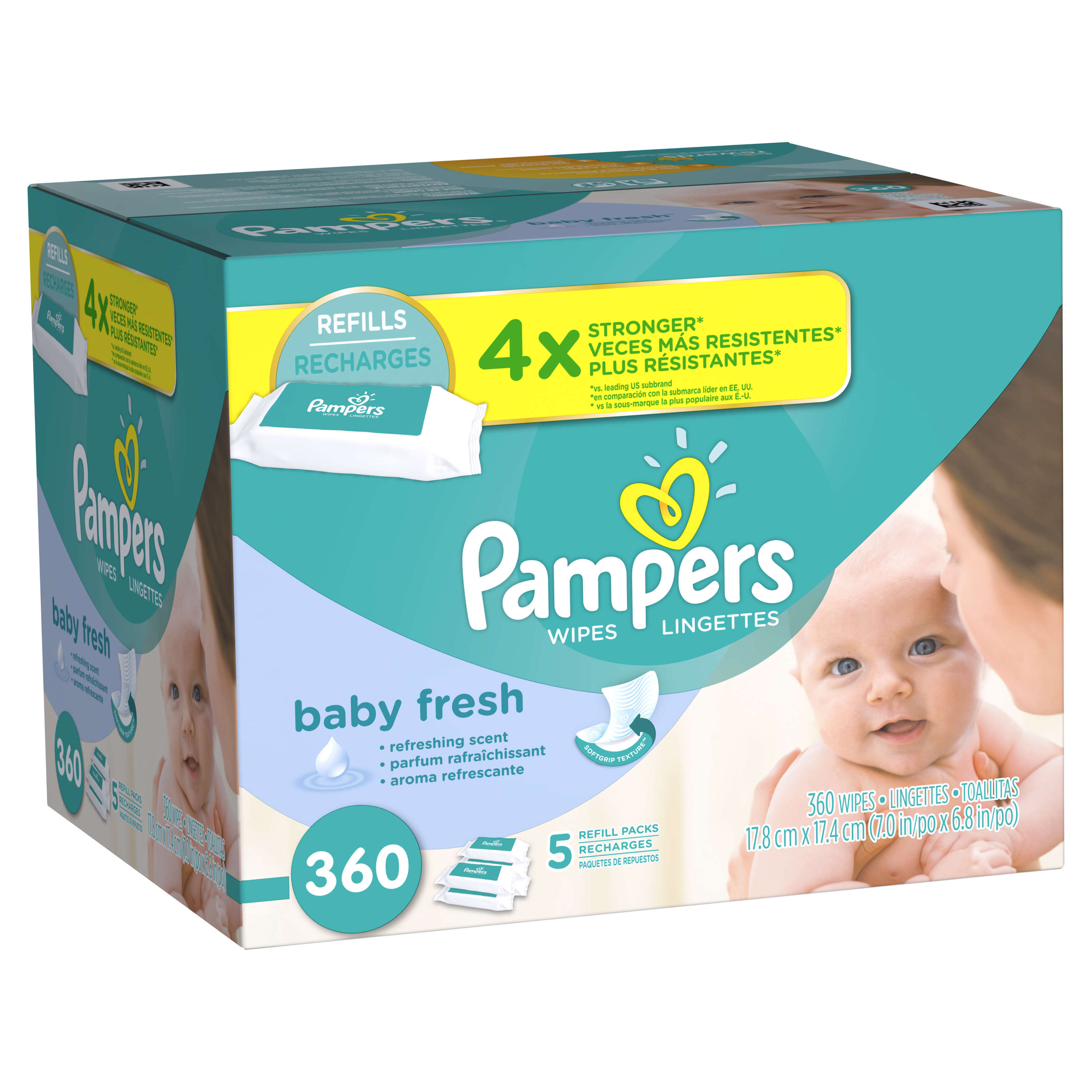 Pampers Baby Wipes Baby Fresh 5X Refill 360 count