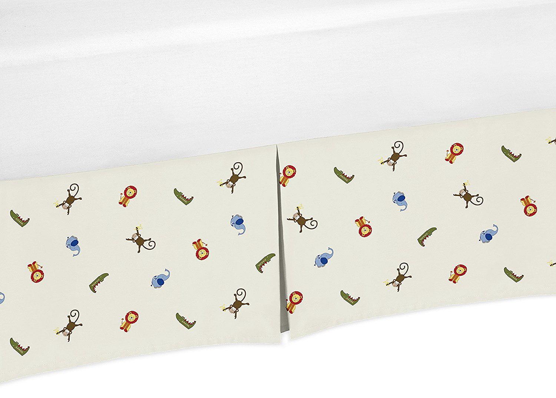Safari Animal Print Crib Bedskirt Dust Ruffle for Boys Jungle Time Collection Baby Bedding Sets by Sweet Jojo Designs