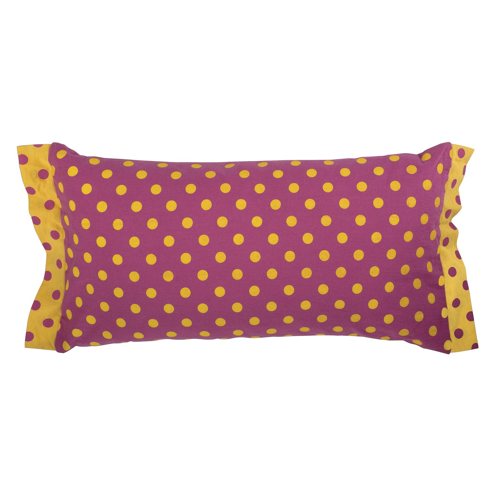 "Rachel Kate By Rizzy Home Decorative Poly Filled Throw Pillow Dots 11""X21"" Pink"