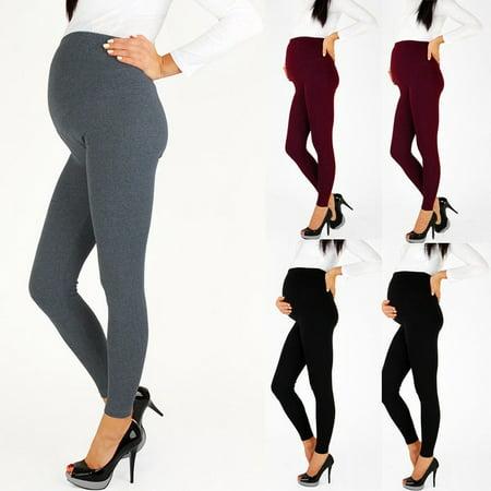 Long Length Maternity Pants - Pregnant Women Full Length Maternity Leggings Pants Comfort Warm Pregnancy Wear