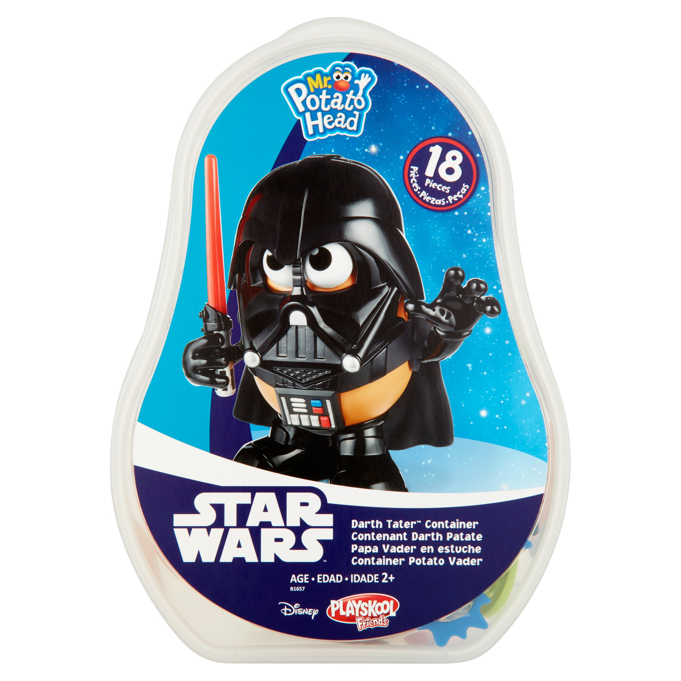 Disney Playskool Friends Star Wars Mr. Potato Head Darth Tater Container Age 2+, 18 count