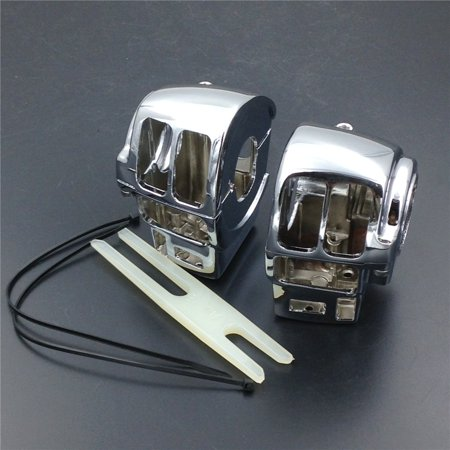 HTT-MOTOR Chrome Switch Housing Cover For 2002-2012 Harley Davidson Road King FLHR/I (equipped with Cruise (Harley Davidson Chrome Switch Housing)