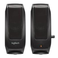 Logitech S120 Desktop Speaker System, Black