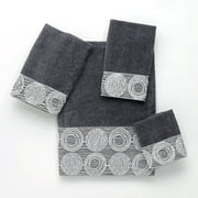 Galaxy Embroidered Fingertip Towel - Granite