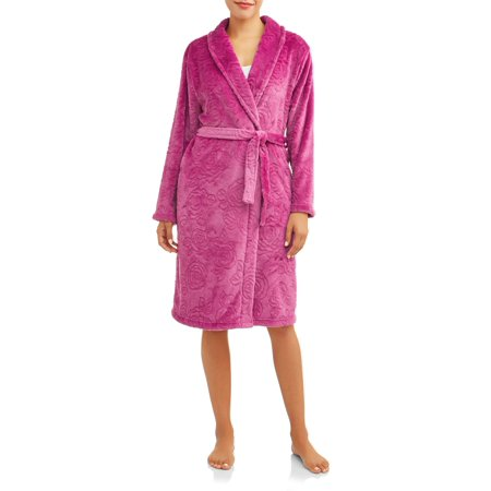 Gloria Vanderbilt Women's and Women's Plus Fleece Robe - Playboy Robe