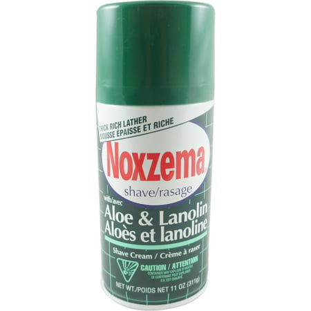 Noxzema Shave Cream Aloe and Lanolin 11 oz (Pack of 6)