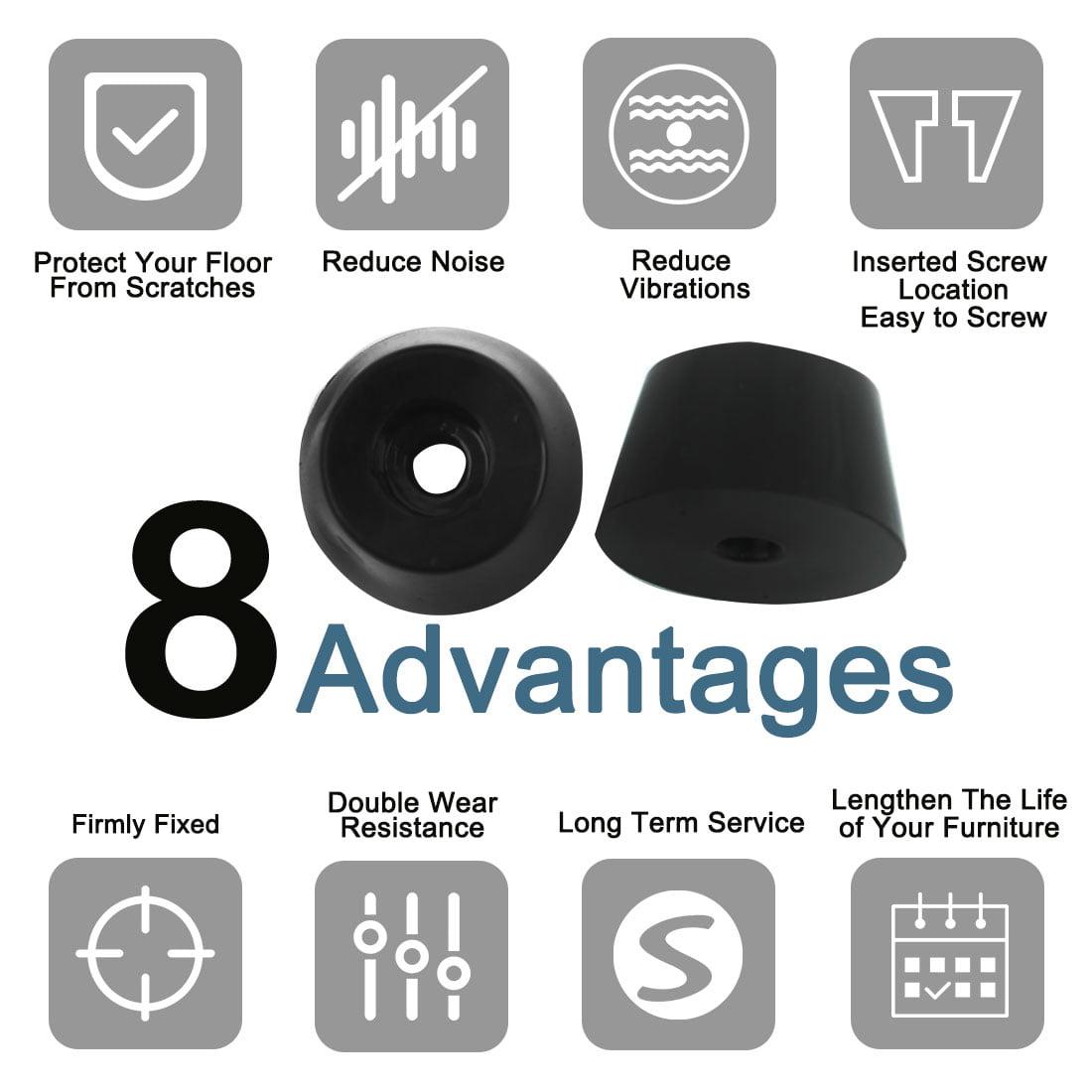 23pcs Rubber Feet Bumper Amplifier Cabinet Leg Pad Floor Protector, D31x24xH18mm - image 2 de 7