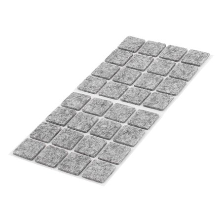 Unique Bargains Table Chair Square Self Adhesive Furniture Felt Pads Cover Gray 18 x 18mm 32pcs ()