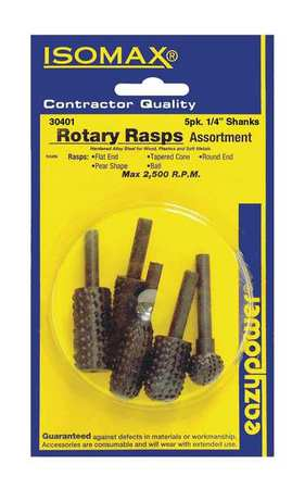 EAZYPOWER 30401 Rotary Rasps, 1 4 in., 5 pcs. by EAZYPOWER