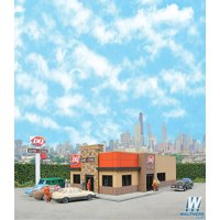 Walthers Cornerstone N Scale Building/Structure Kit DQ Grill & Chill Restaurant