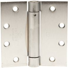 Hager Template Spring Hinge, 4-1/2 In. X 4-1/2 In., Dull Chrome, 3-Pack