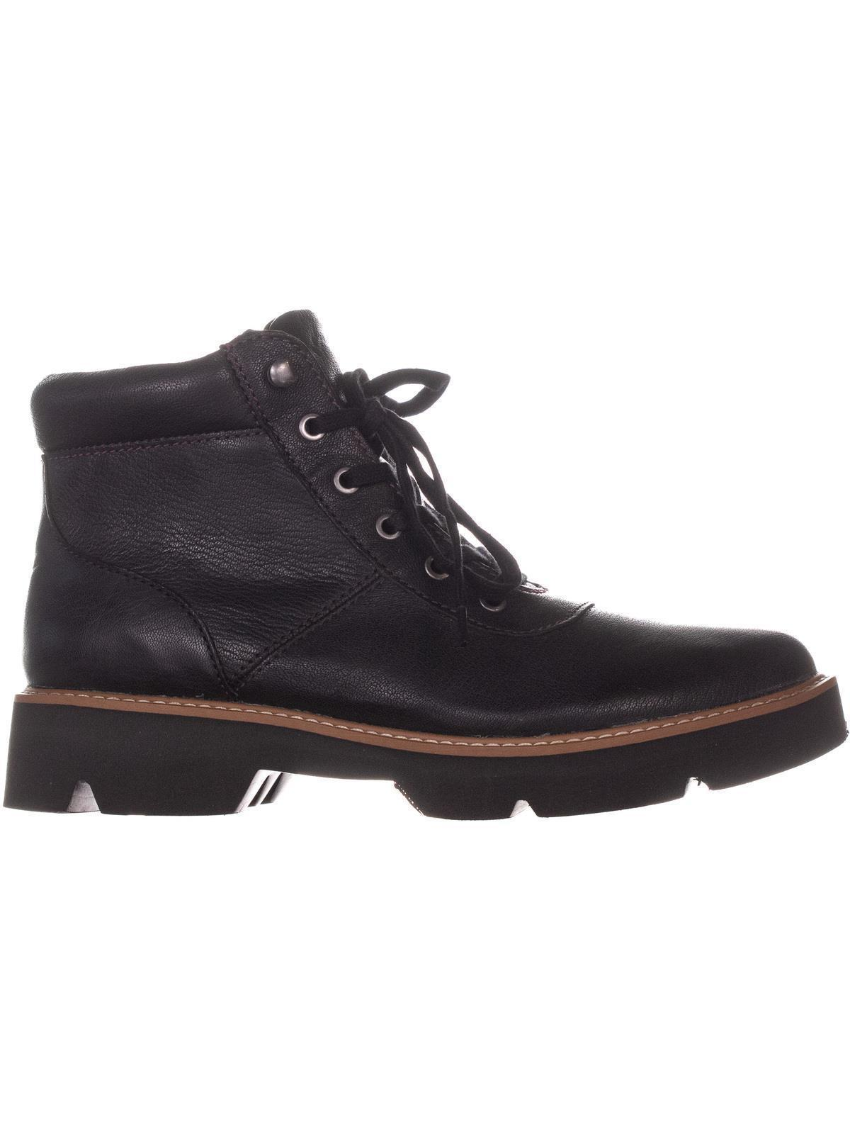 Naturalizer Lucy Lace Up Boots Black Leather