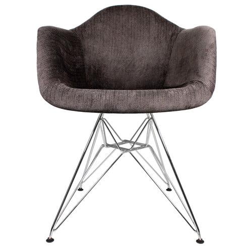 eModern Decor Velvet Fabric Arm Chair