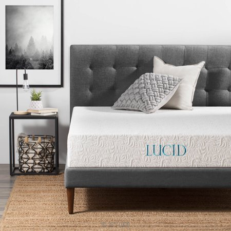 4004f6819 Lucid 10 Inch Premium Support Latex Foam Mattress - Walmart.com