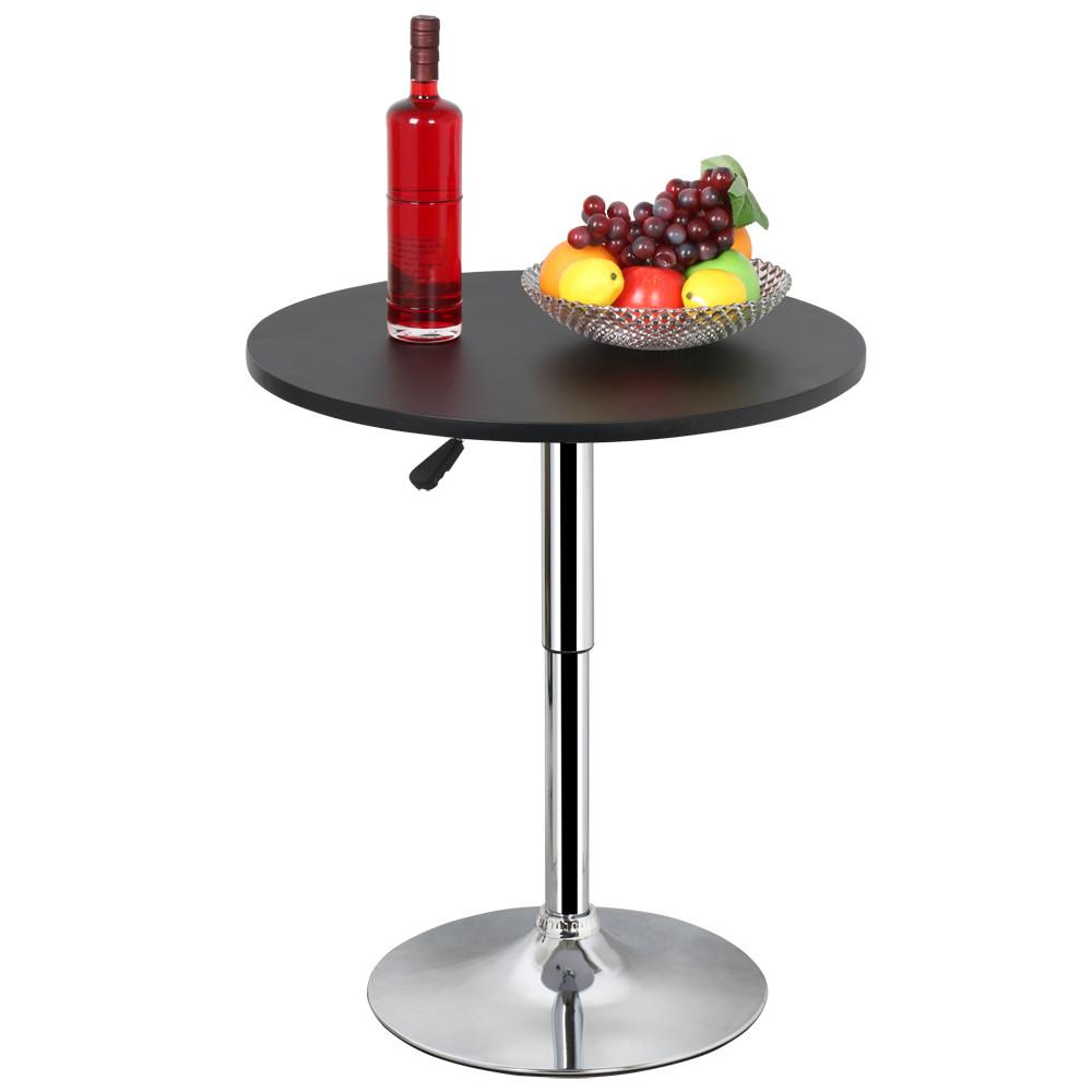 Yaheetech Pub Table Adjustable 360 Swivel Round Bar Table
