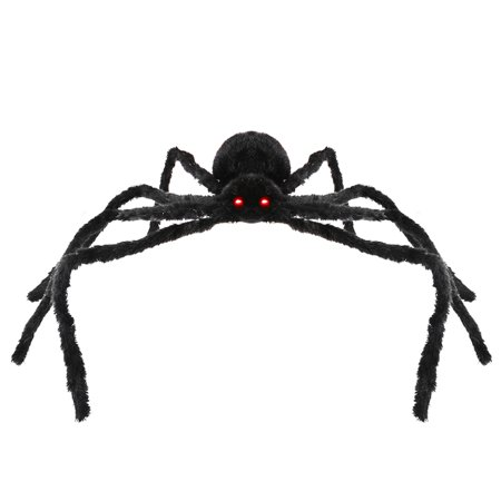 49 Inch 125CM Large Size Black Realistic Fake Plush Spider Puppet Prank Jokes Toy Made Of Wire and Plush Halloween Props Spider Funny Toy For Party or Bar KTV Halloween Decoration for $<!---->