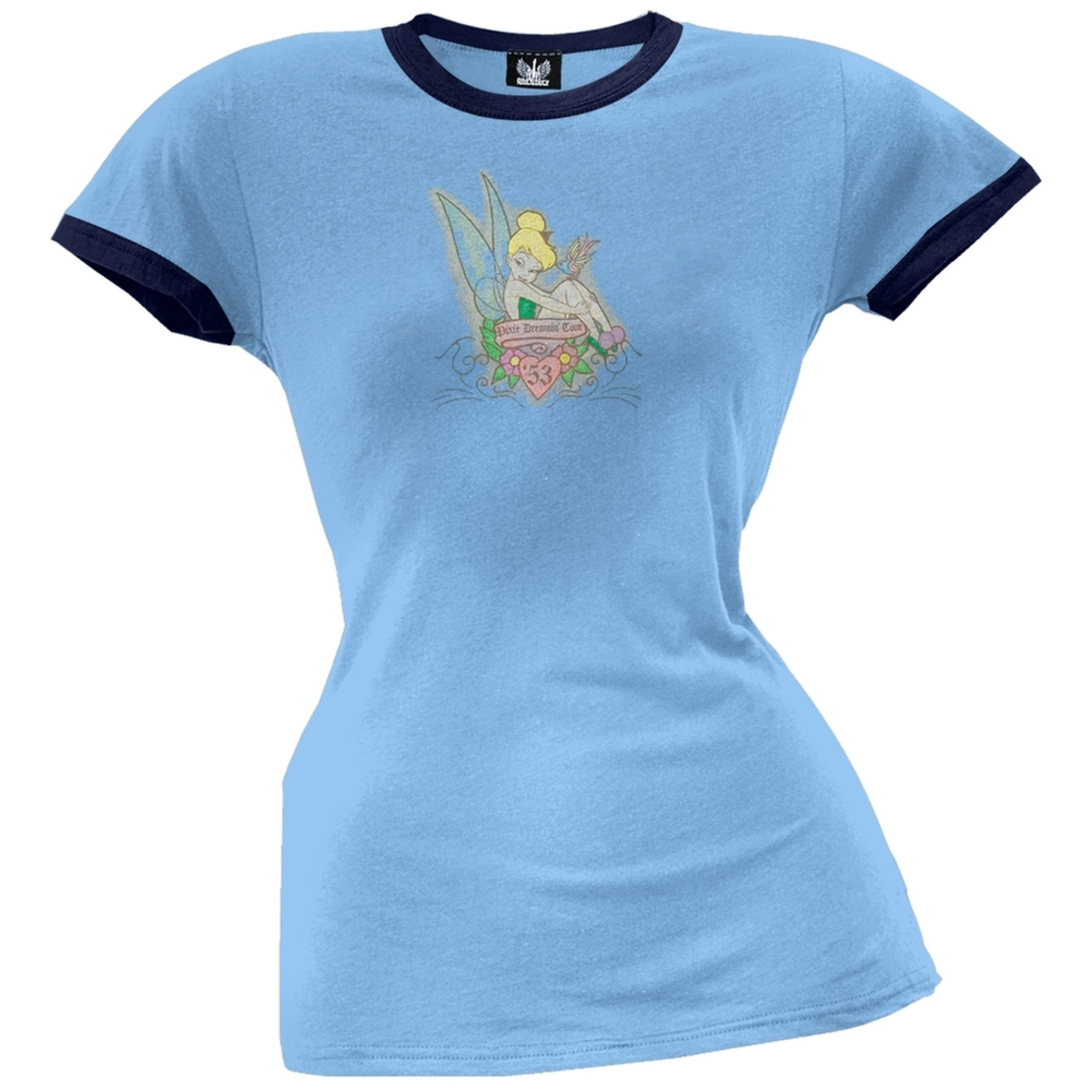 Tinkerbell - Pixie Dreamin' Juniors Ringer T-Shirt